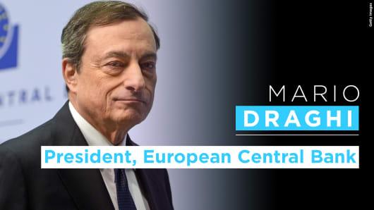 Mario Draghi graphic