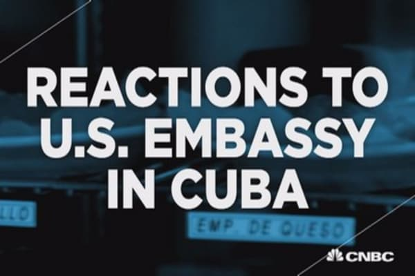 Cuban-Americans react to embassy openings