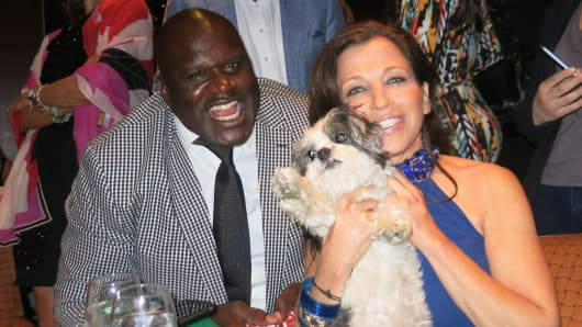 Shaquille O'Neal at the Harlem Women's Poker Night.