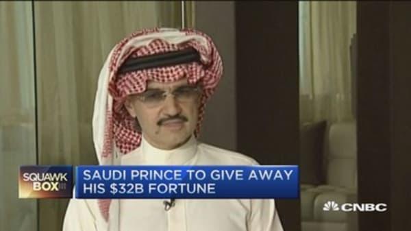 Saudi Prince to give away $32B fortune