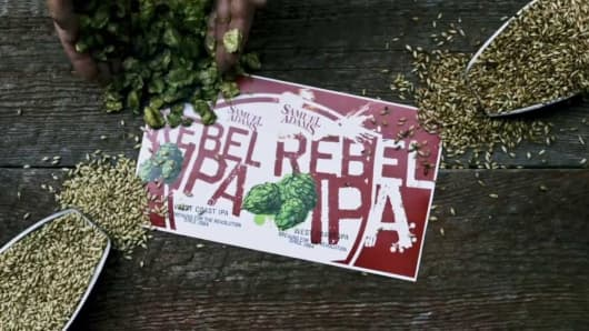 Samuel Adams Rebel IPA.