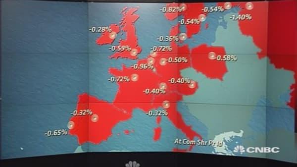 European shares close lower as Greek vote eyed
