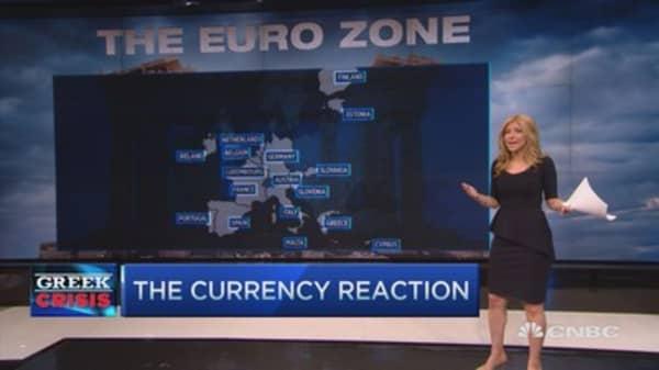 Euro sinks on Greek vote