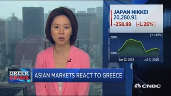 Asia reacts to Greece