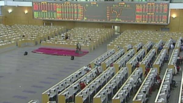 China's crash concern