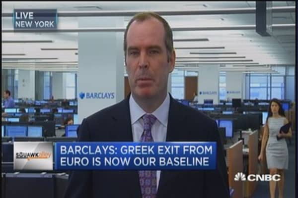 Barclays: Grexit is now our baseline