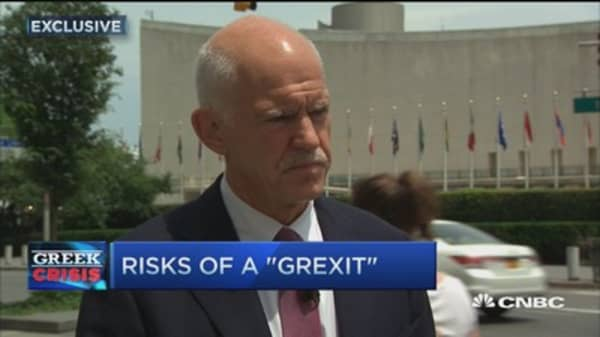 Hoped for a 'yes' vote: Fmr. Greek Prime Minister