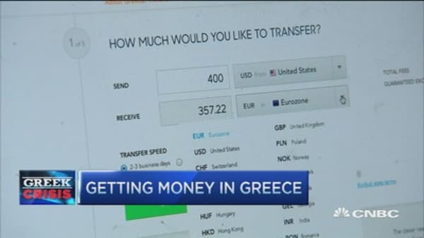 Getting money to Greece
