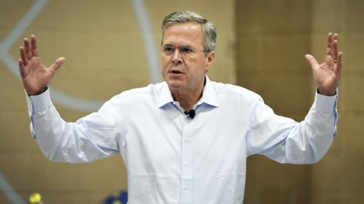 Jeb Bush at a town hall meeting in Henderson, Nevada, June 27, 2015.