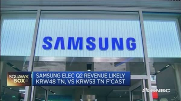 Samsung Electronics tips below-view Q2 earnings