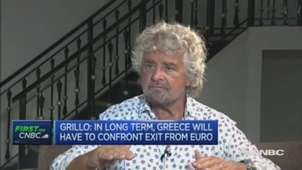 Debt in Europe must be shared: Grillo