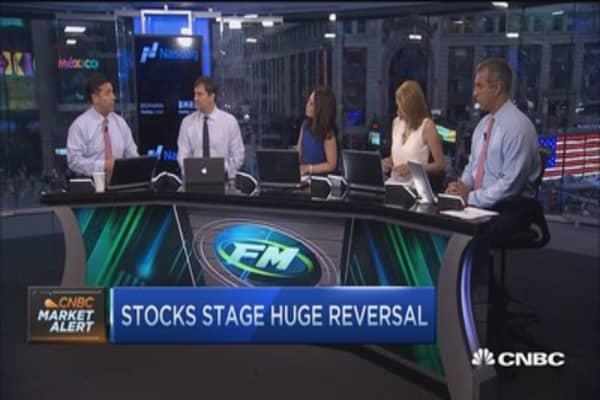 Stocks stage huge reversal