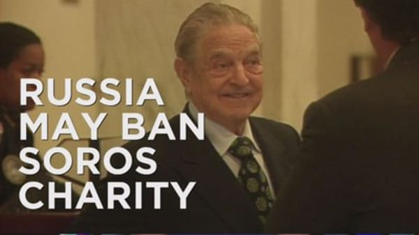 Putin's charity ban