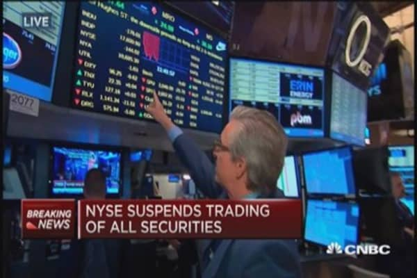 Tech issue at NYSE