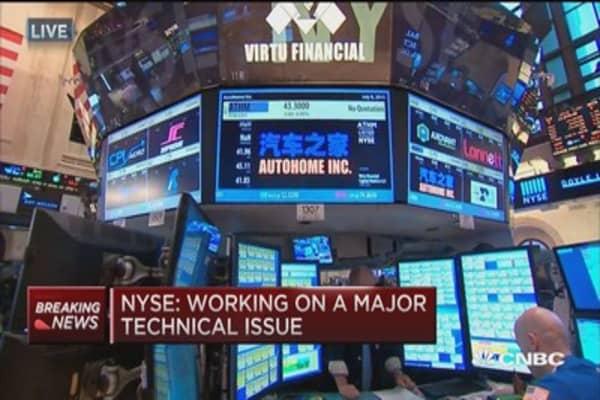 Trader: NYSE halt unnerving, but don't panic