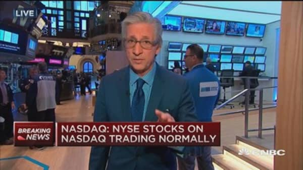 NYSE canceling all open orders