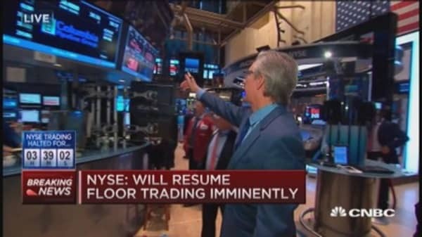 NYSE resumes floor trading