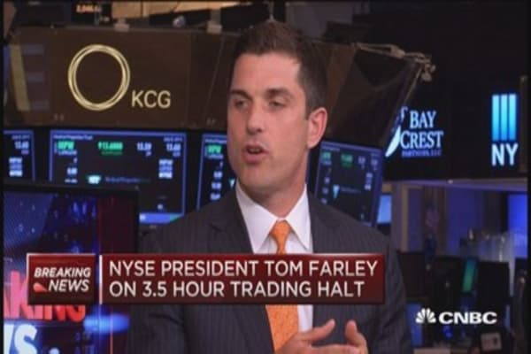 NYSE President: Found what was wrong and fixed it
