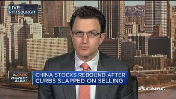 China stocks bounce after selling curbs