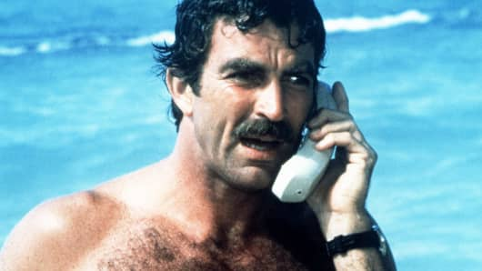 Tom Selleck as Thomas Magnum, circa 1985