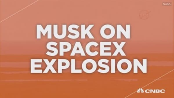 Elon Musk talks Tesla and SpaceX explosion