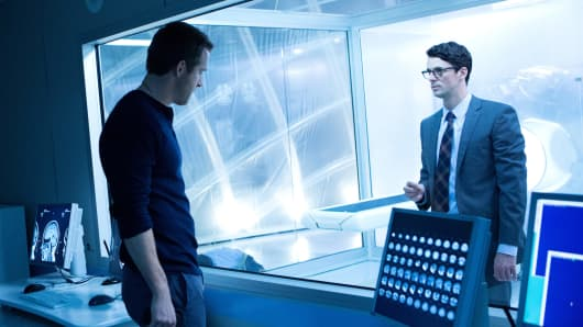 "Ryan Reynolds and Matthew William Goode, in the movie ""Self/less"""