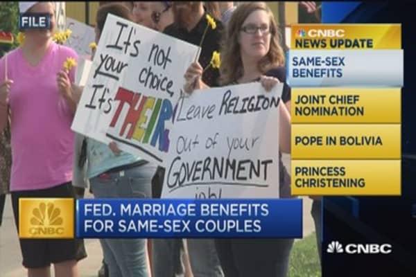 CNBC update: Same-sex benefits