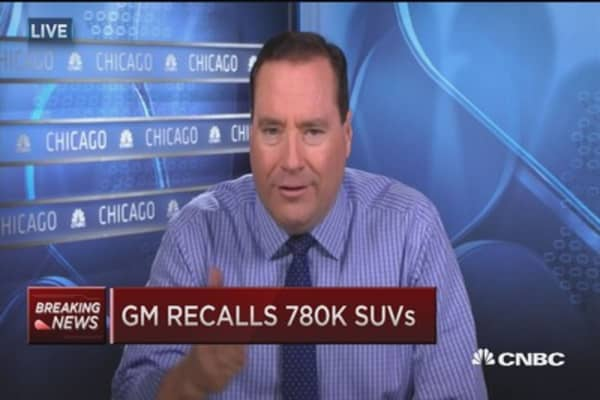 GM recalls 780K SUVs