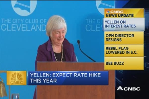 CNBC update: Yellen expects a rate hike this year