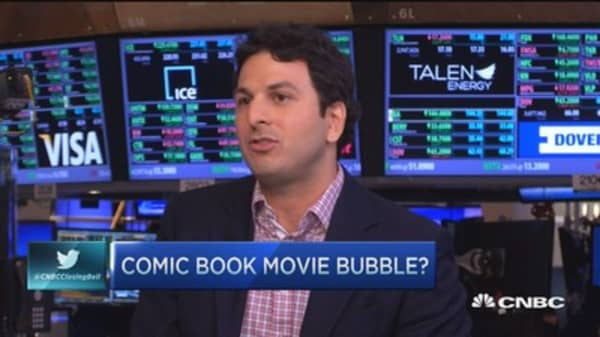 Comic book movie bubble?