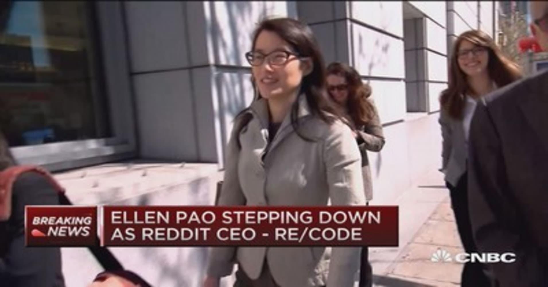 Ellen Pao steps down as Reddit CEO: Re/code