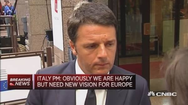 We need a new vision for Europe: Renzi