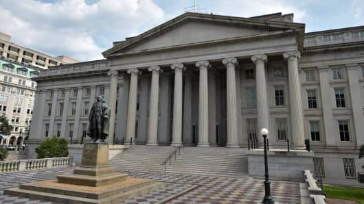 US Treasury in Washington, DC.