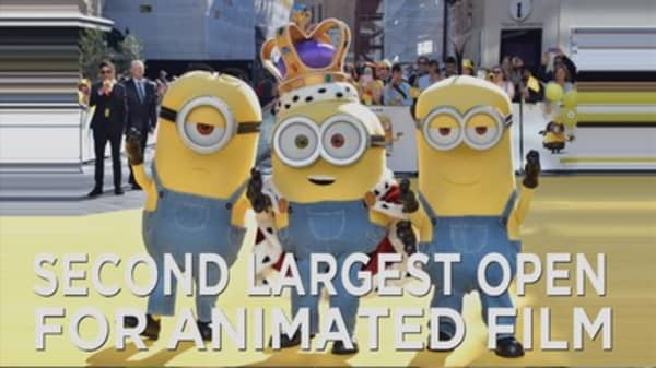'Minions' tops the box office