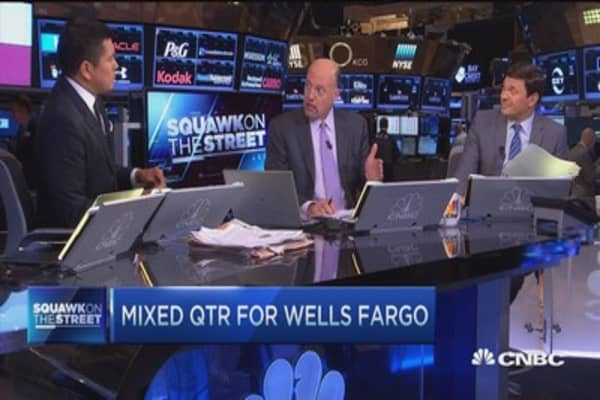 Cramer: Keep Wells Fargo, don't sell it