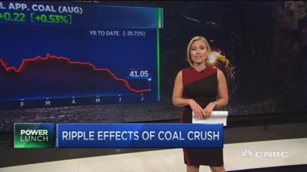 Ripple effects of coal crush