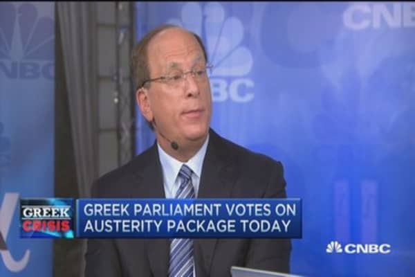 Larry Fink: Europeans did what was necessary in Greece