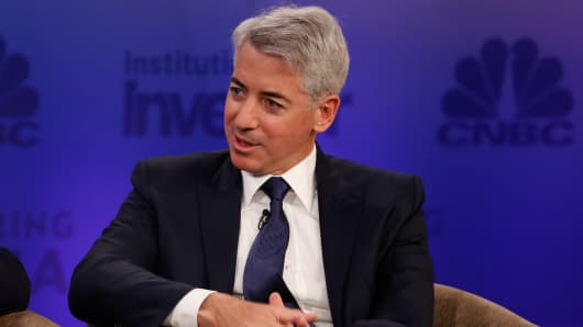 Bill Ackman at Delivering Alpha 2015 in New York.