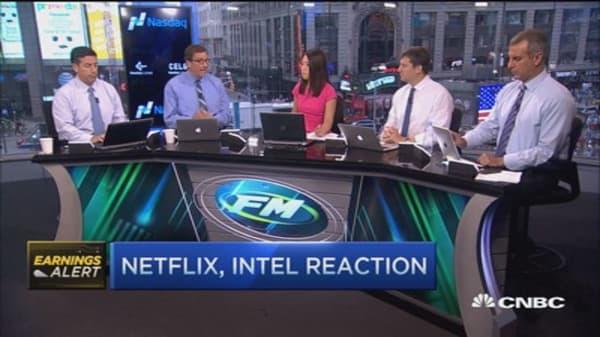 Netflix & Intel pop after earnings