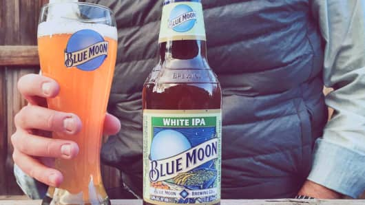 Blue Moon White IPA beer