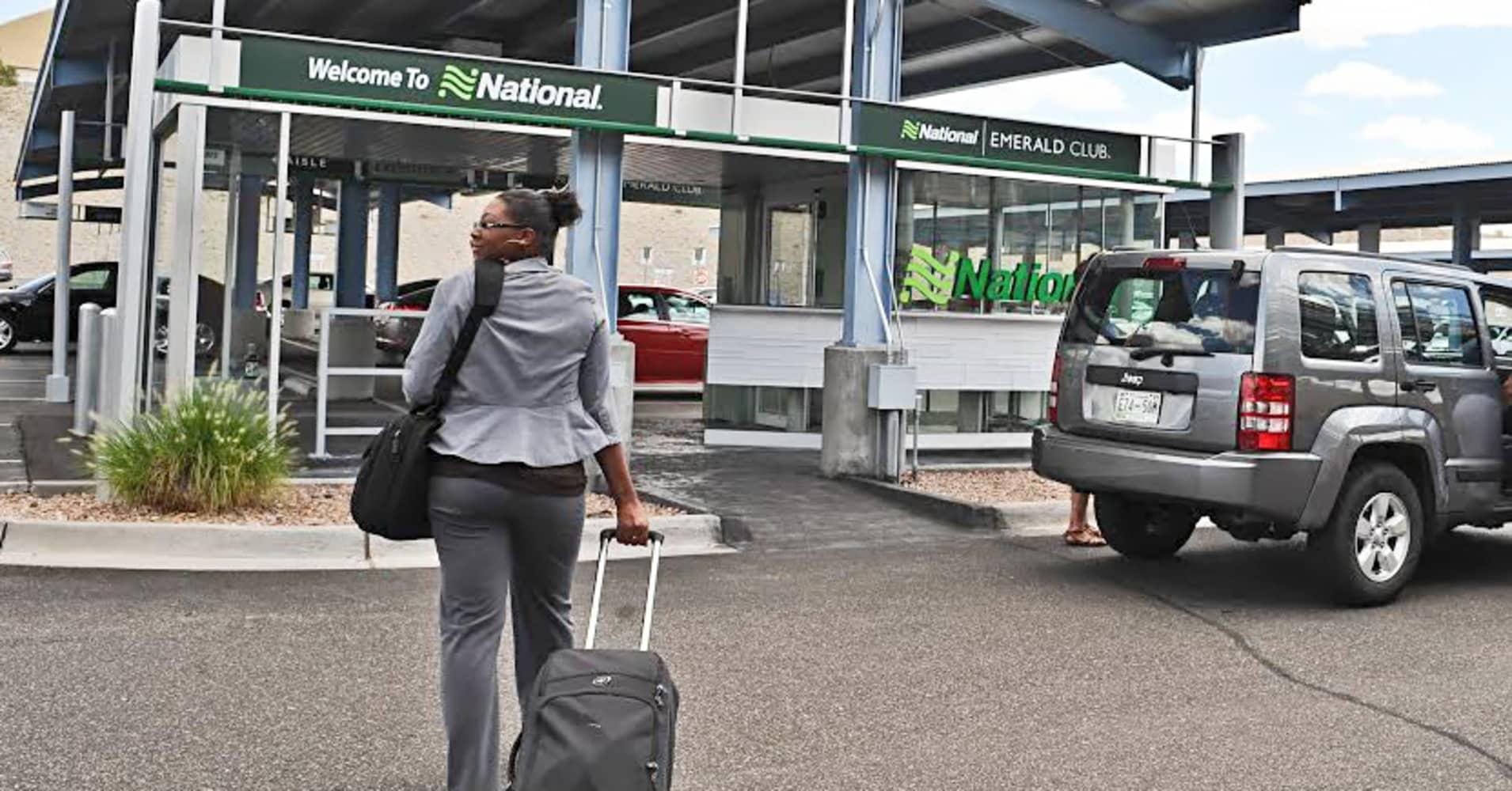 Customer at National car rental