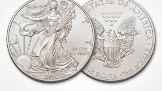 The American Eagle 2015 1 oz, silver coin.