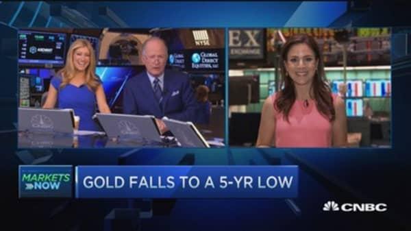 Losses for oil & gold