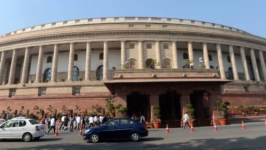 Parliament in New Delhi