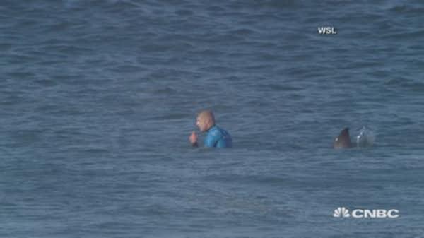 Shark attack caught on video
