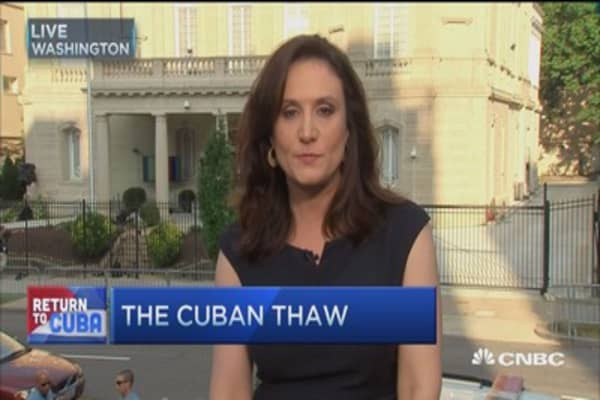Cuban embassy opens in Washington
