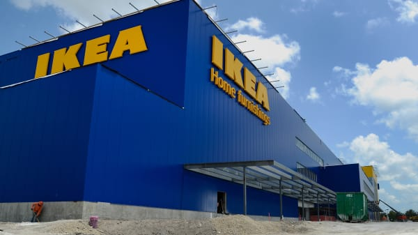 """A new IKEA store under construction in Florida. The furniture giant said Monday that after the three deaths of three children it is no longer selling its """"Malm"""" series products."""