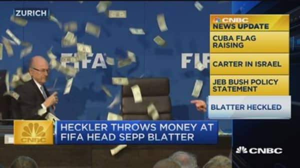 CNBC update: Money thrown at Fifa's Blatter
