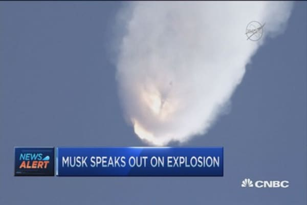 Musk: SpaceX crash an important lesson