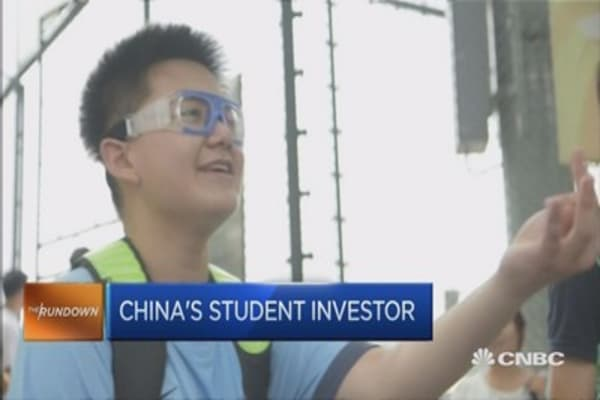 Meet China's 17-year-old stock investor
